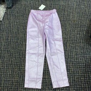 Lilac retro leather pants
